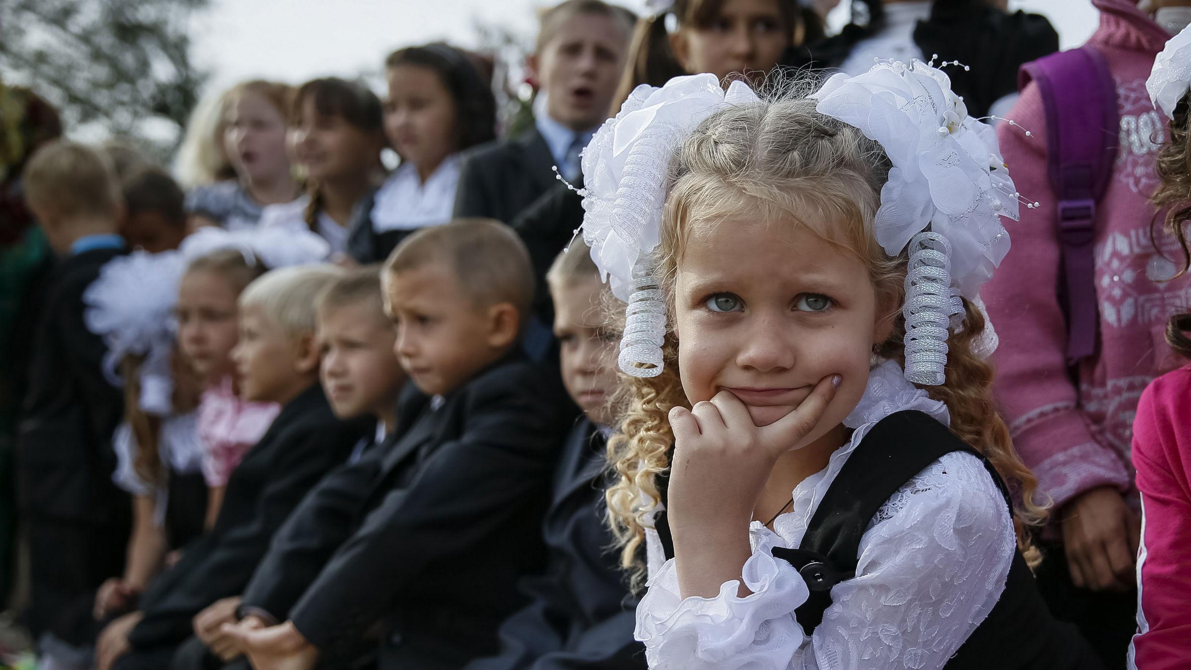 Ukranian school girl