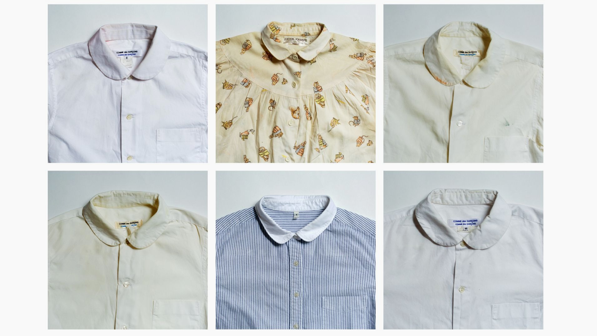 One piece of the collections that appear in Women in Clothes: Miranda Purves' shirts with Peter Pan collars