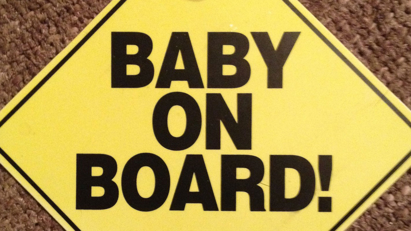 Menace On Board Baby Child Window Bumper Car Sign Window Sticker