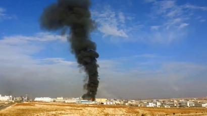 Airstrike explosion at oil field