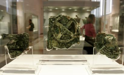 Antikythera mechanism in Athens museum