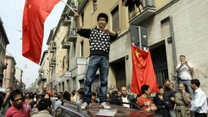 Chinese protests in MIlan