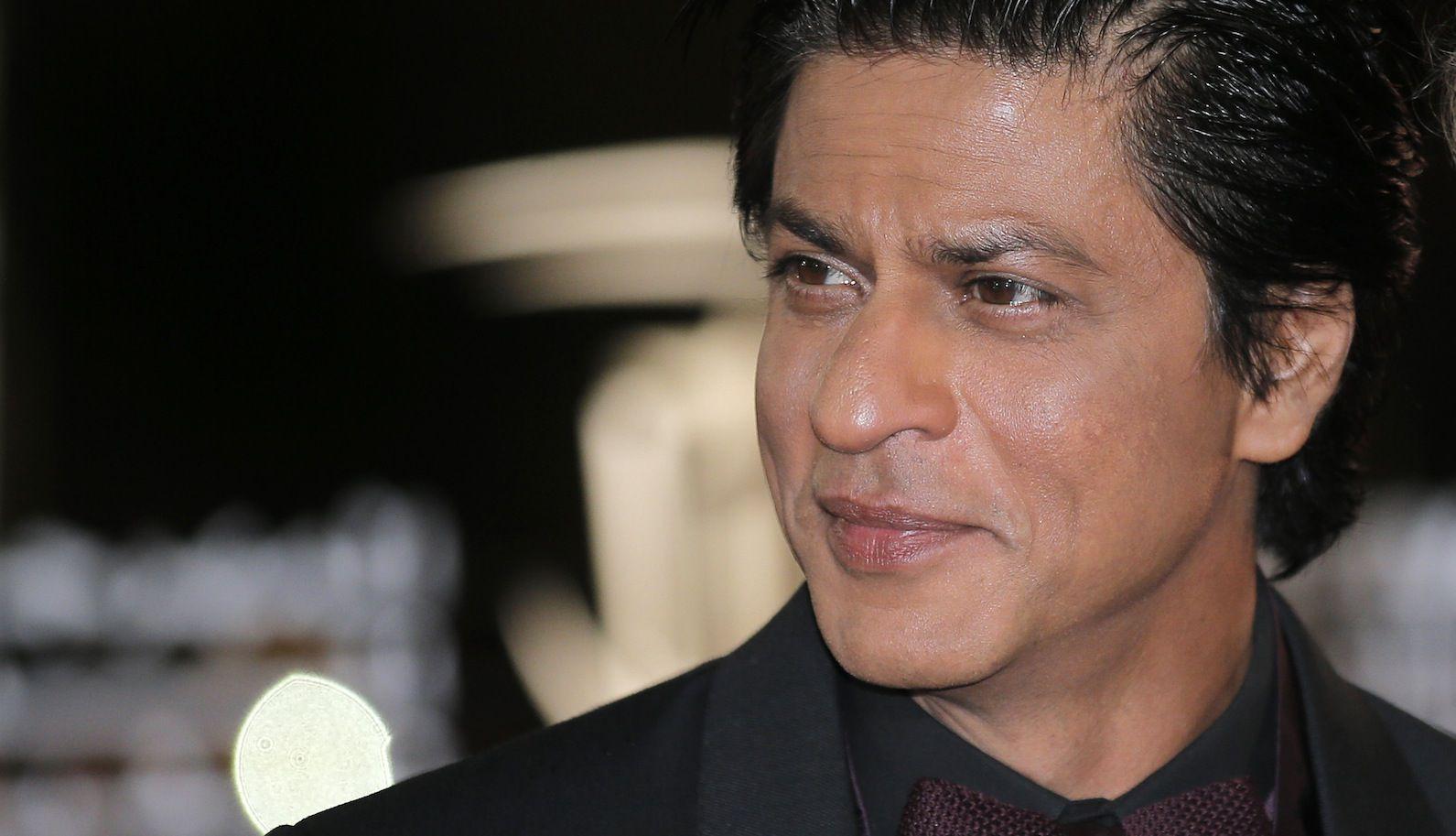 Indian film actor Shahrukh Khan arrives at the Marrakech International Film Festival in Marrakech, Saturday, Dec.1, 2012 at the Marrakech Congress Palace. The Film Festival take place until Dec.8. (AP Photo/Lionel Cironneau)