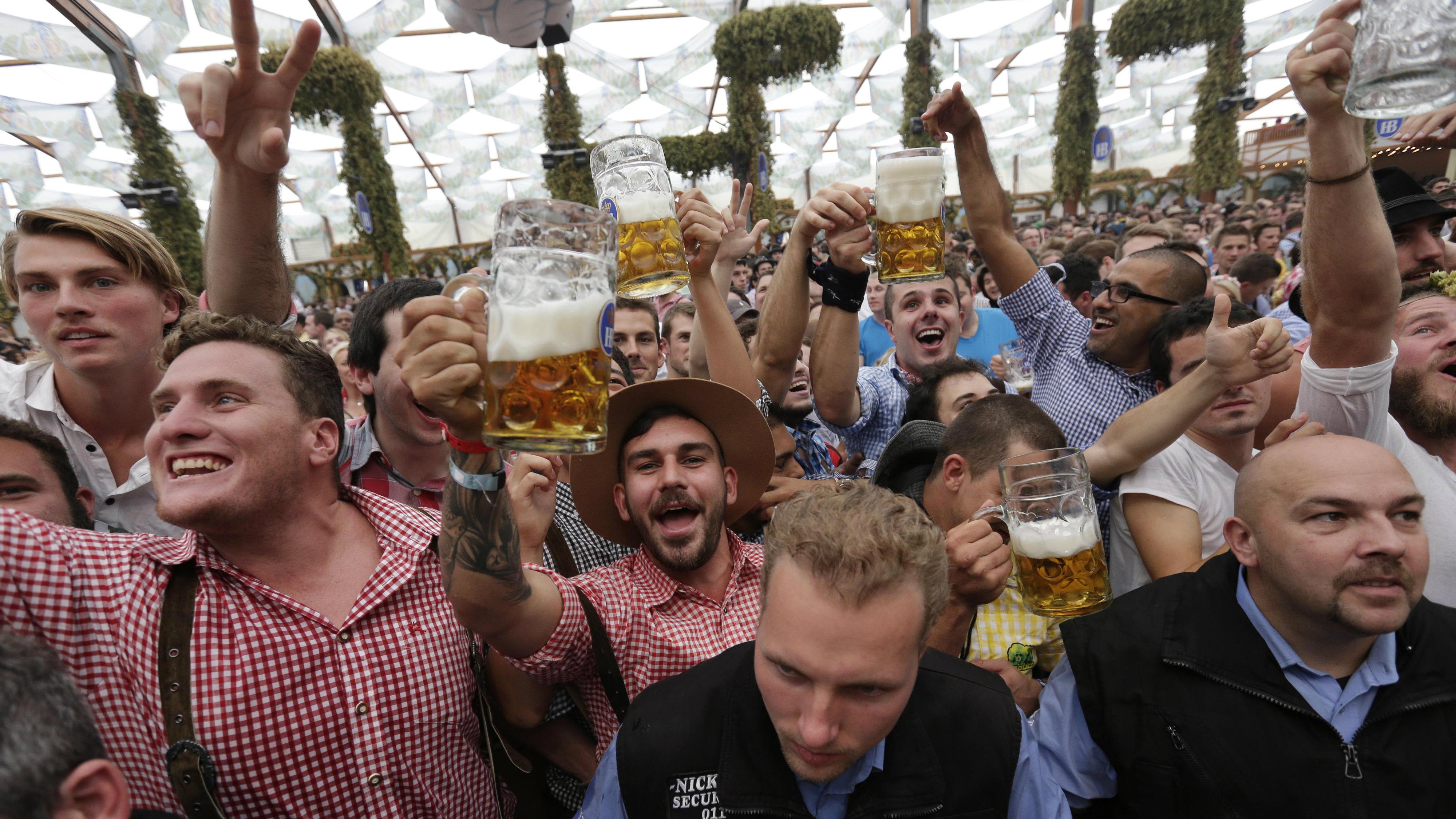 Drunk people octoberfest