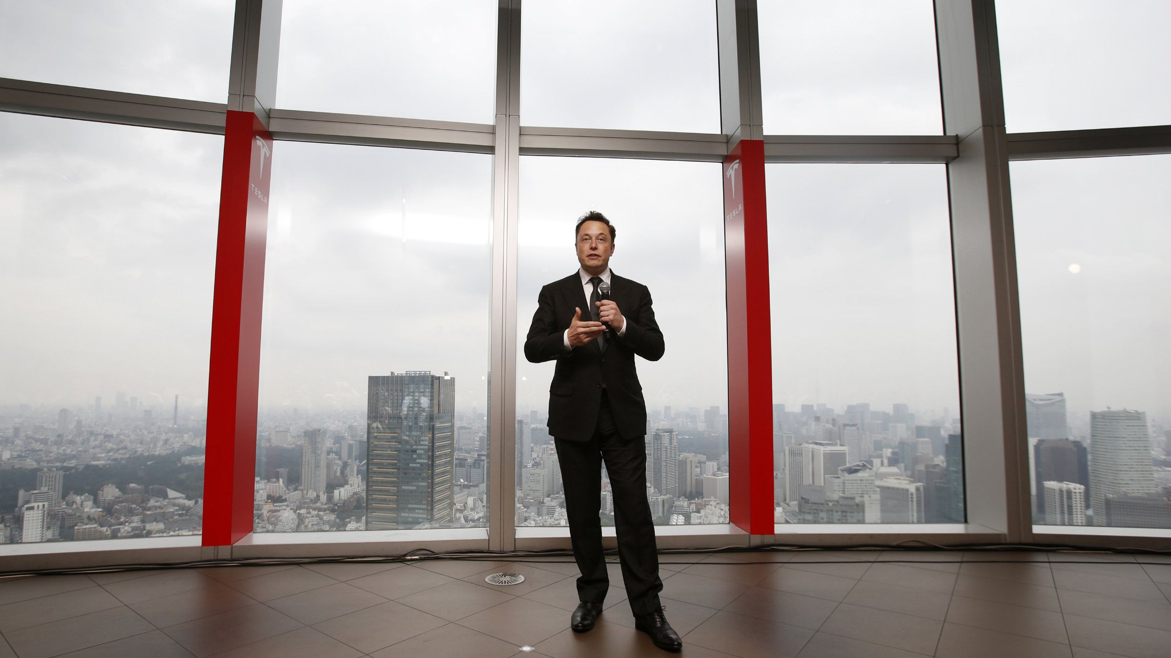 Tesla Motors Inc Chief Executive Elon Musk speaks during a news conference in Tokyo September 8, 2014