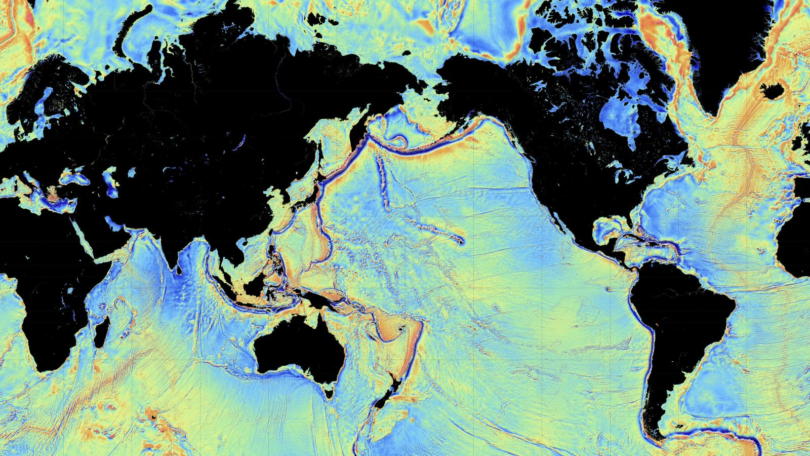 Amazing new maps of the ocean floor