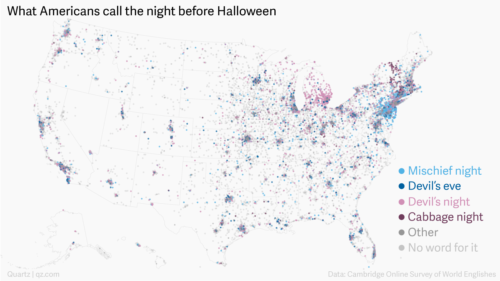 this map shows the weird names americans have given the night before