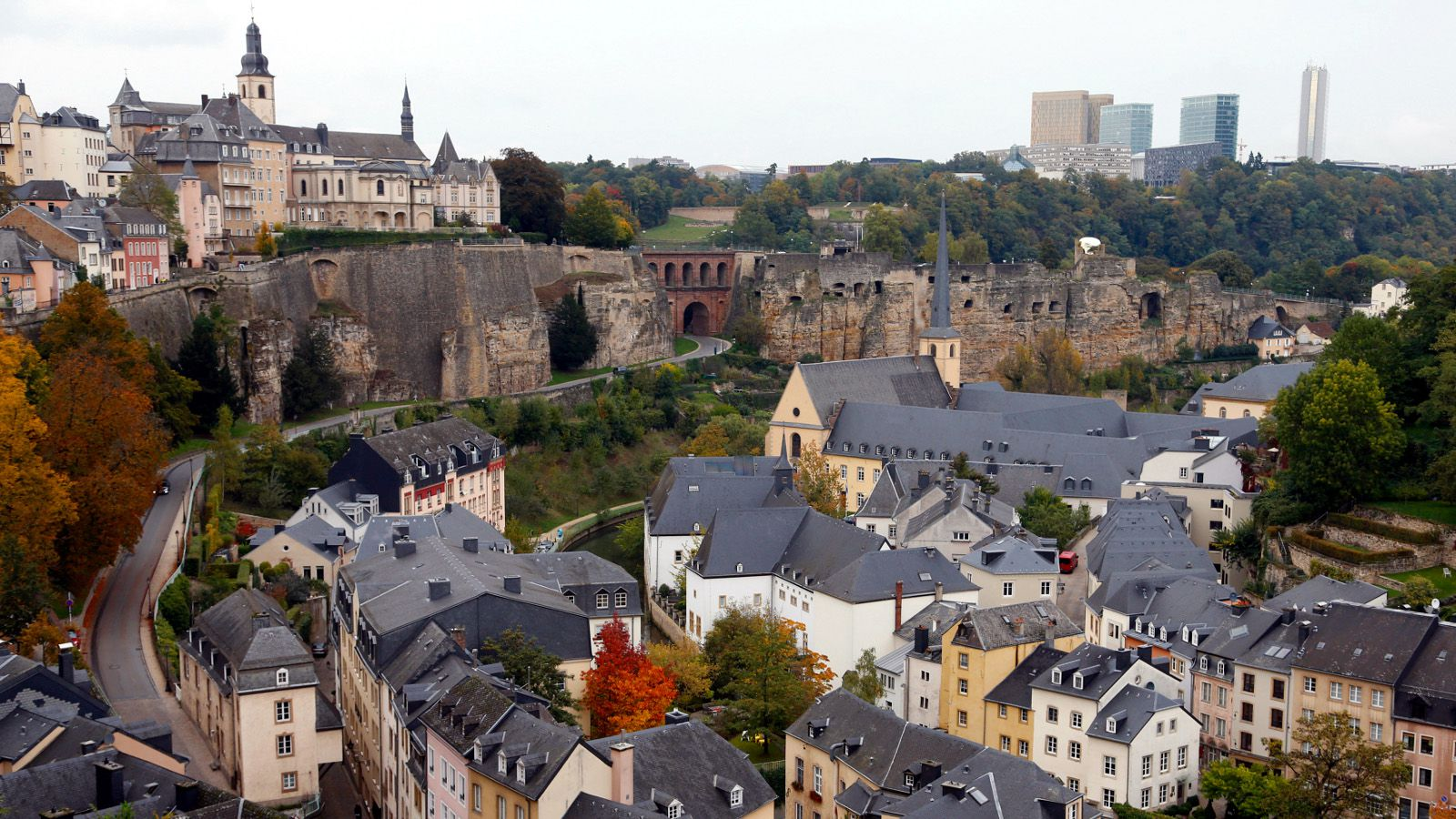 General view of the city of Luxembourg October 11, 2013. Luxembourg's voters will take to the polls in a general election on October 20.