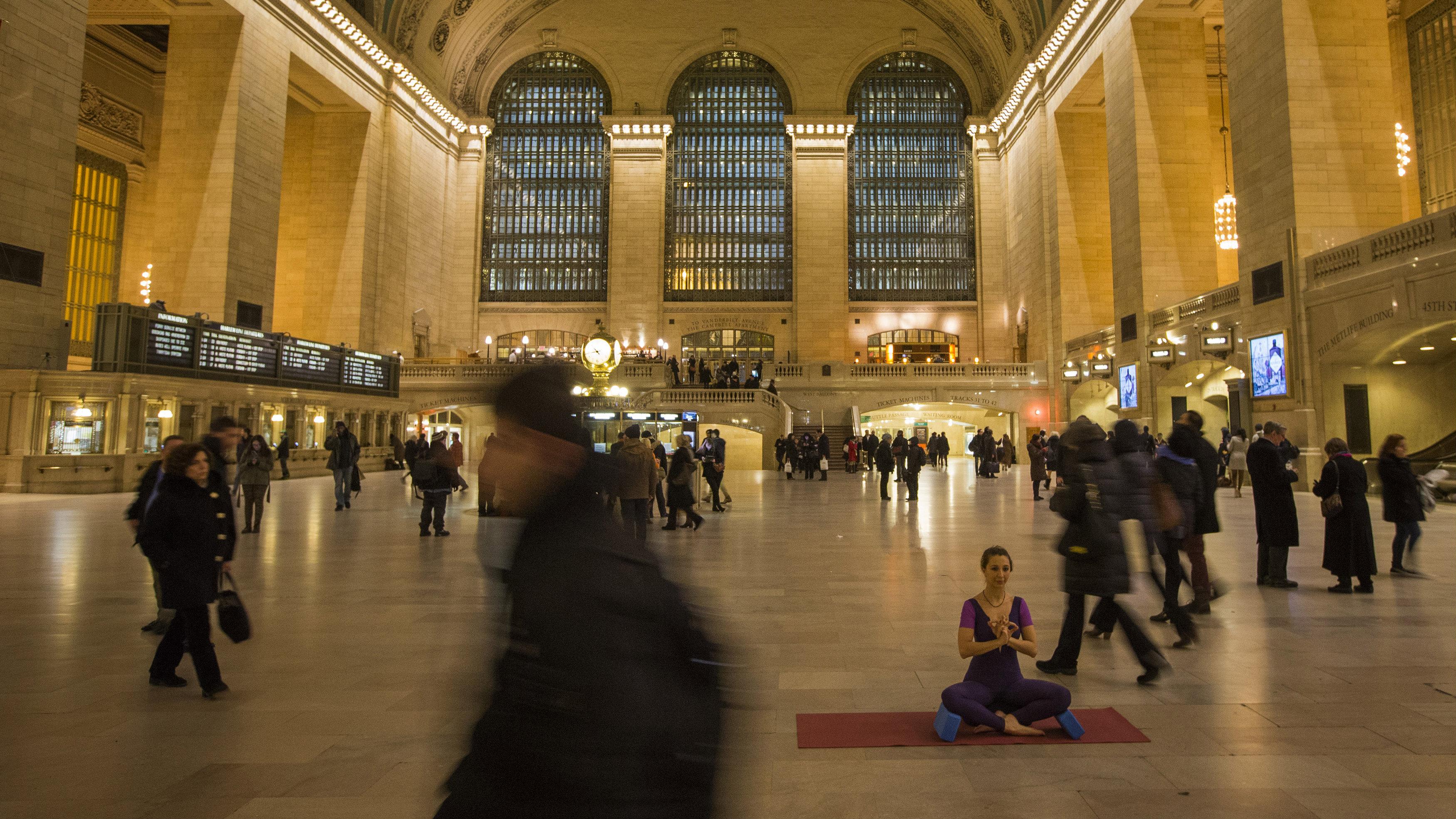Meditating in Grand Central
