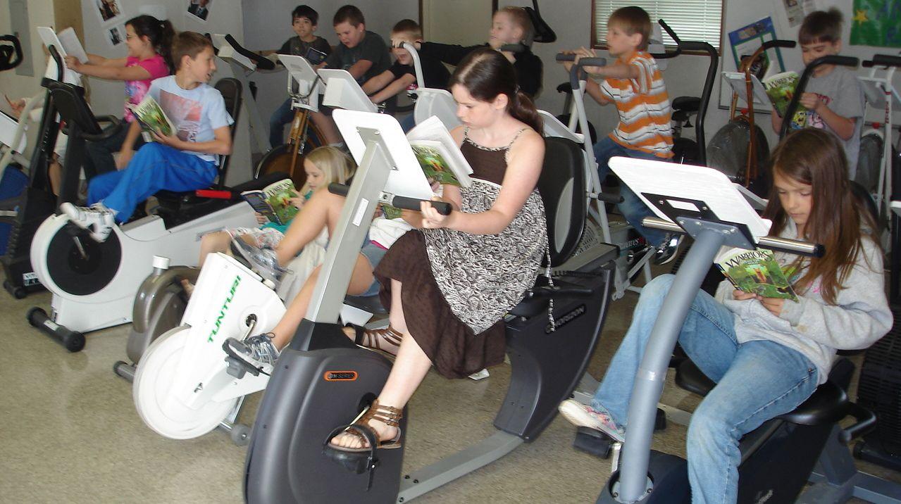 "Ward Elementary School's ""Read and Ride"" program."