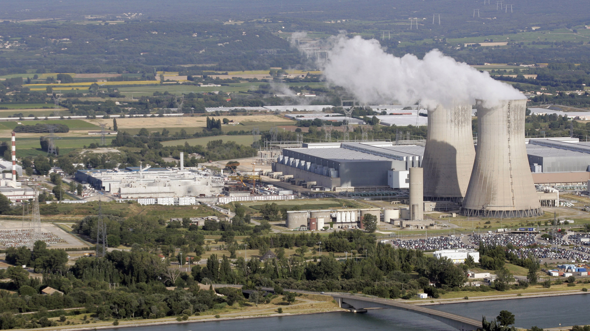 A general view shows the French nuclear Tricastin site in southeastern France.