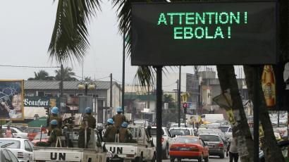 Signs warns of Ebola