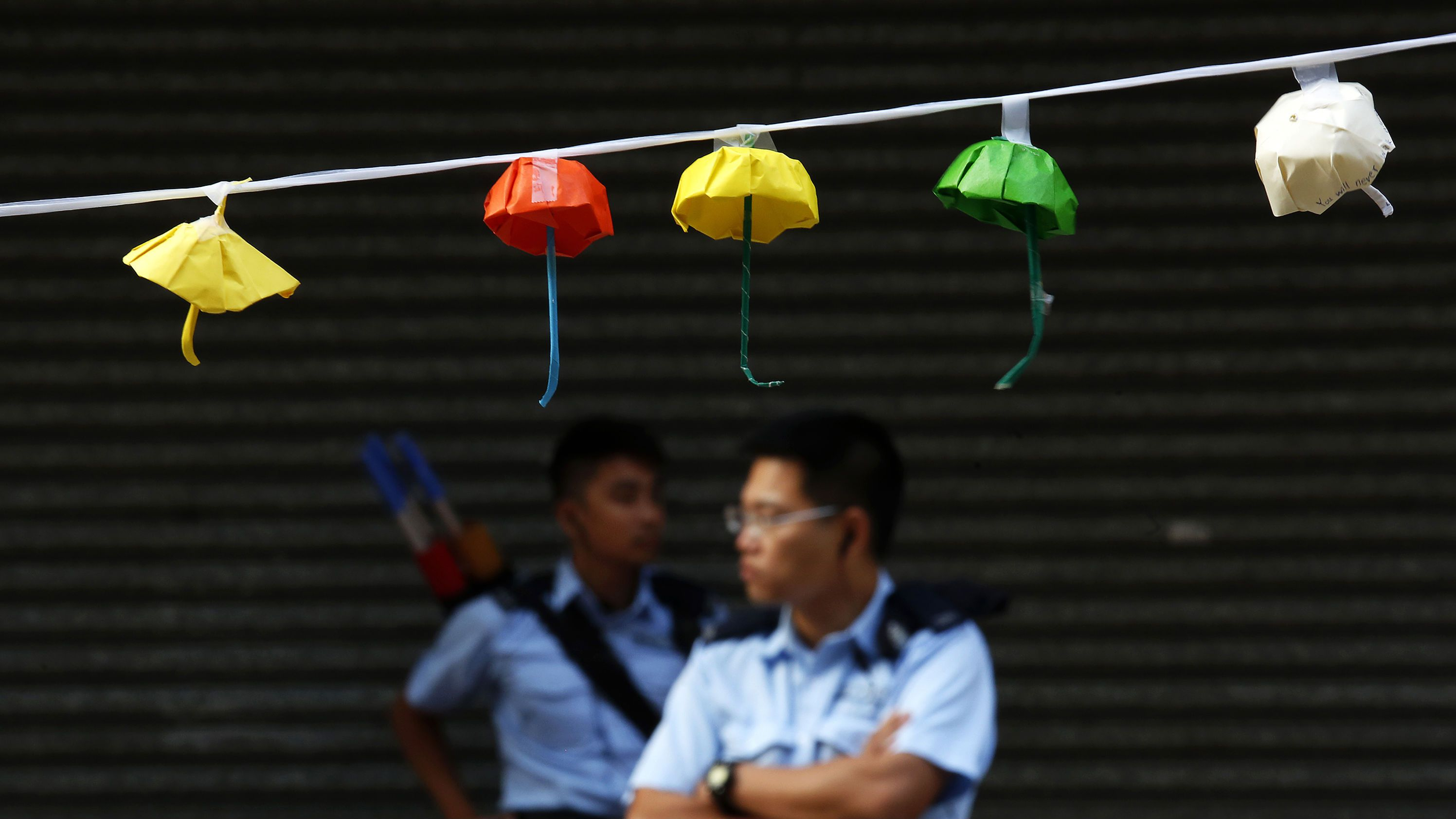 Police at Occupy Central