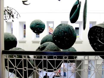 Sculpture at library