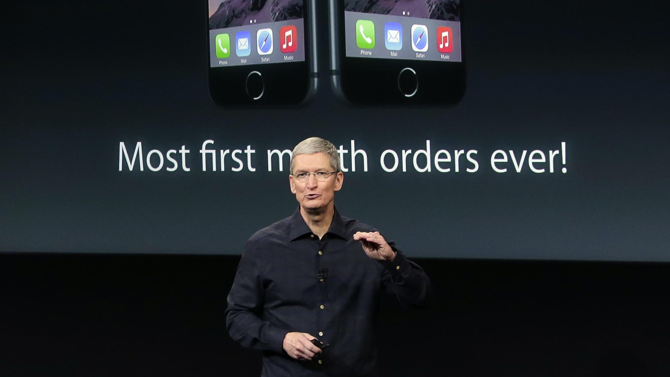 Tim Cook iPhone orders