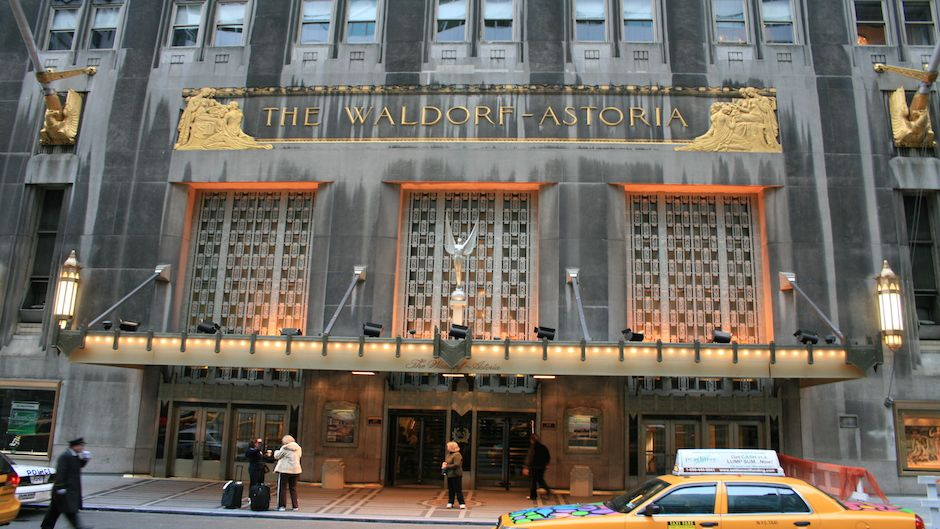 The Waldorf Astoria New York sale to a Chinese insurer.