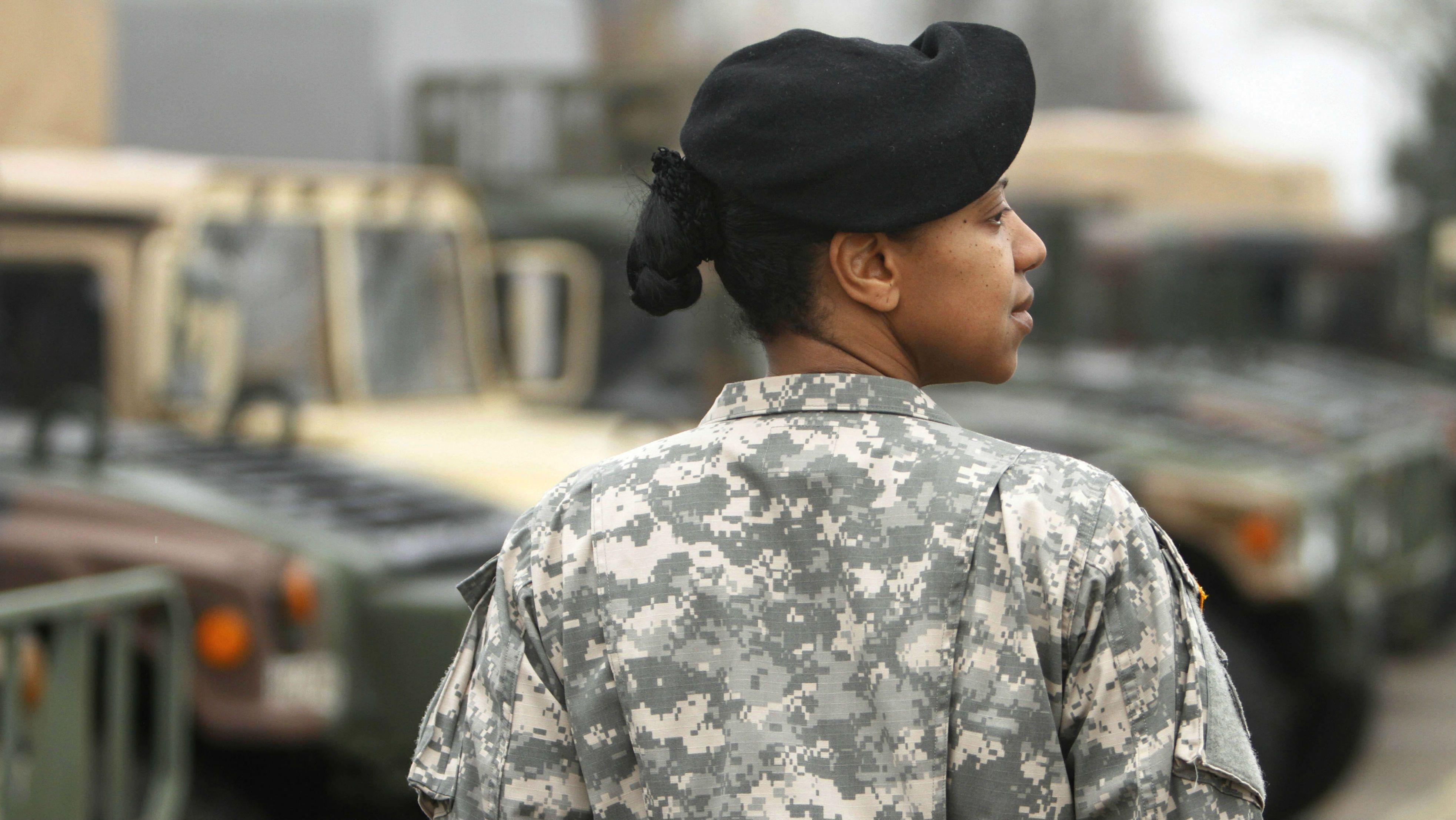 A female officer