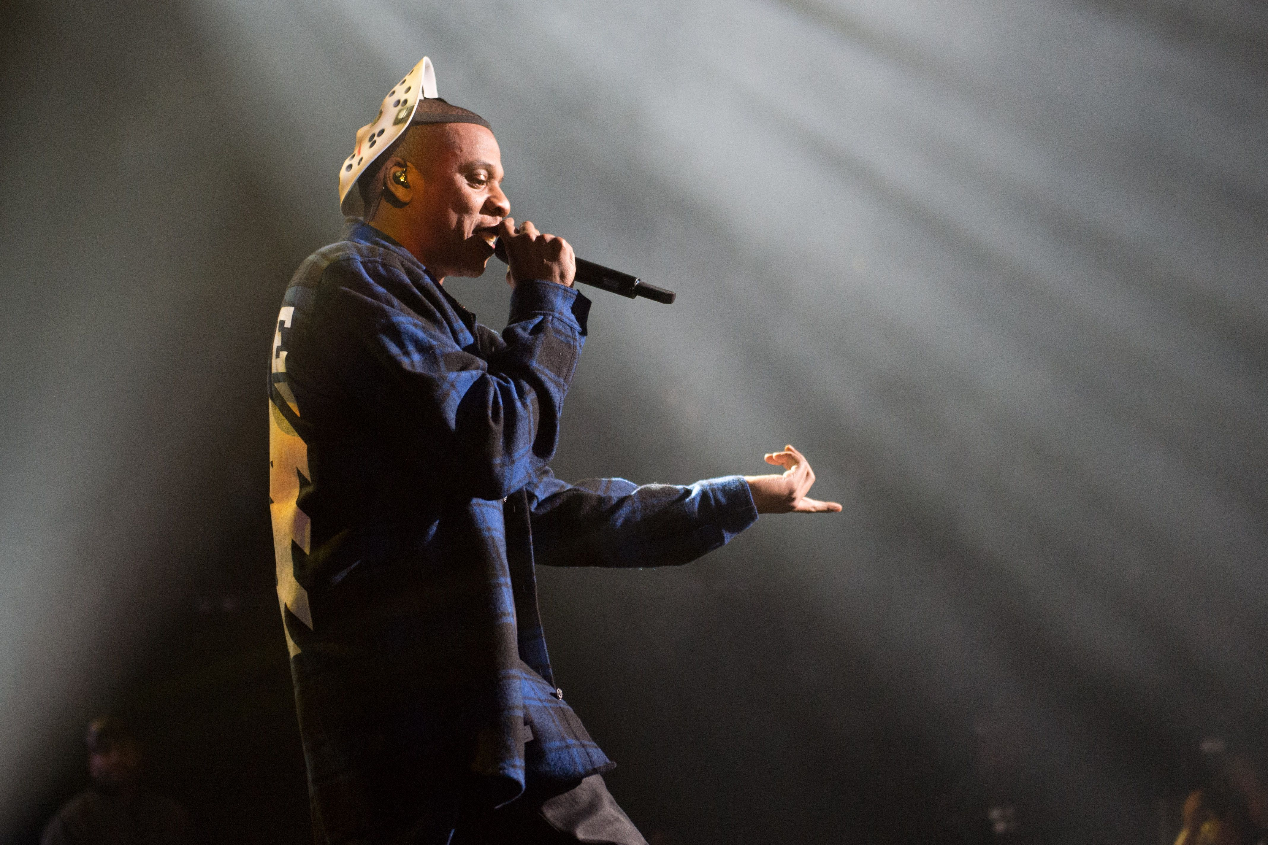 Jay Z performs at Power 105.1's Powerhouse 2014 at Barclays Center on Thursday, Oct. 30, 2014, in Brooklyn, New York. NY (Photo by Scott Roth/Invision/AP)