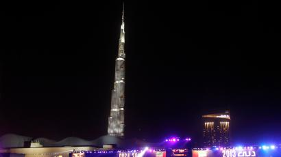 A view shows the Burj Khalifa, the tallest tower in the word, in Dubai April 12, 2013. Picture taken April 12, 2013. REUTERS/Ahmed Jadallah (UNITED ARAB EMIRATES - Tags: SOCIETY CITYSCAPE) - RTXYQM5