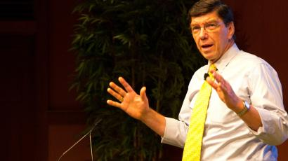 Harvard's Clayton Christensen, distributed under Creative Commons license http://bit.ly/1tfZoCr