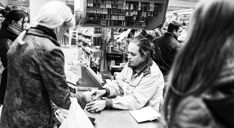 Georgiy, supermarket cashier