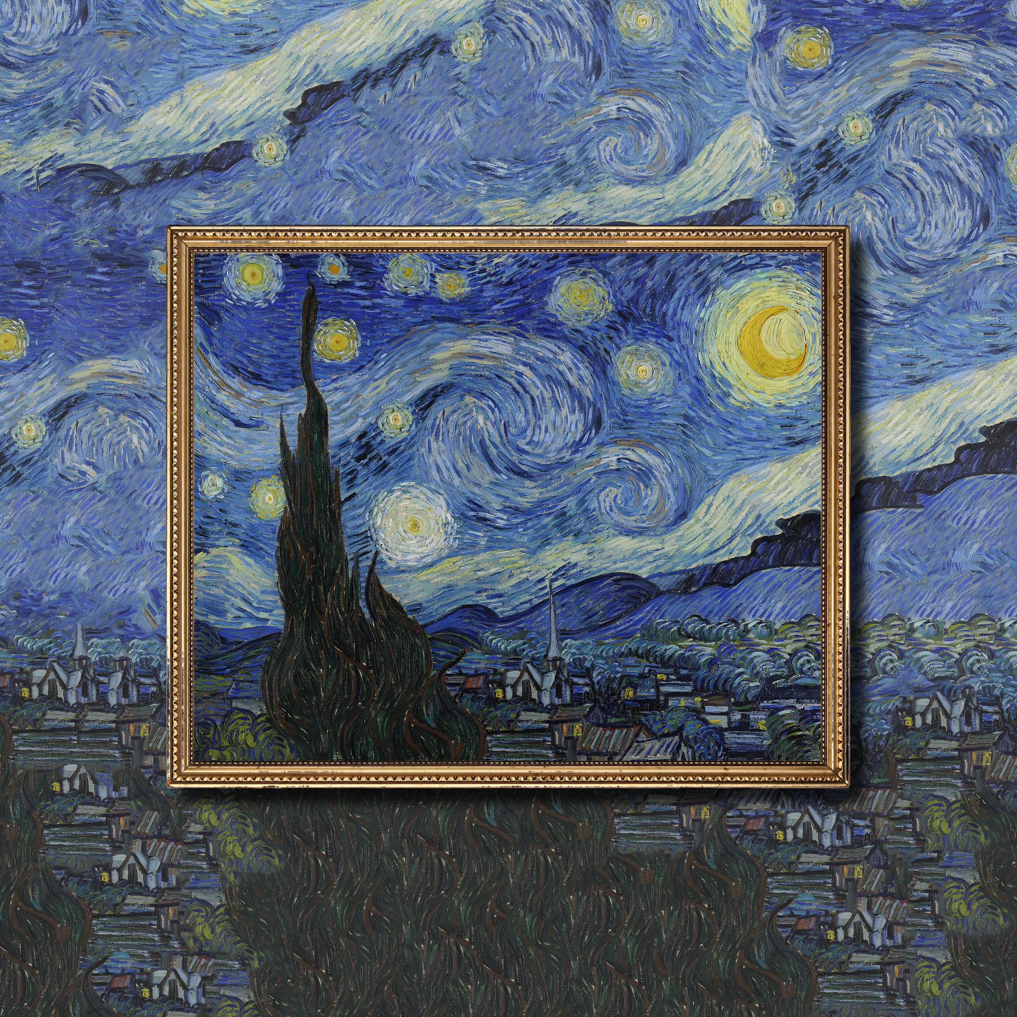 extrapolated art of van gogh