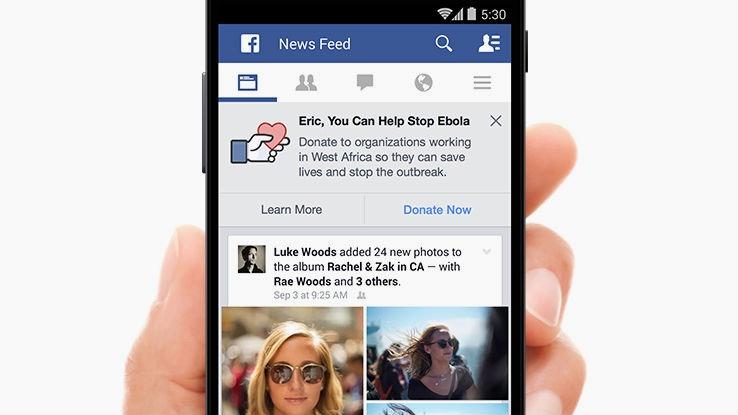 Facebook Ebola button
