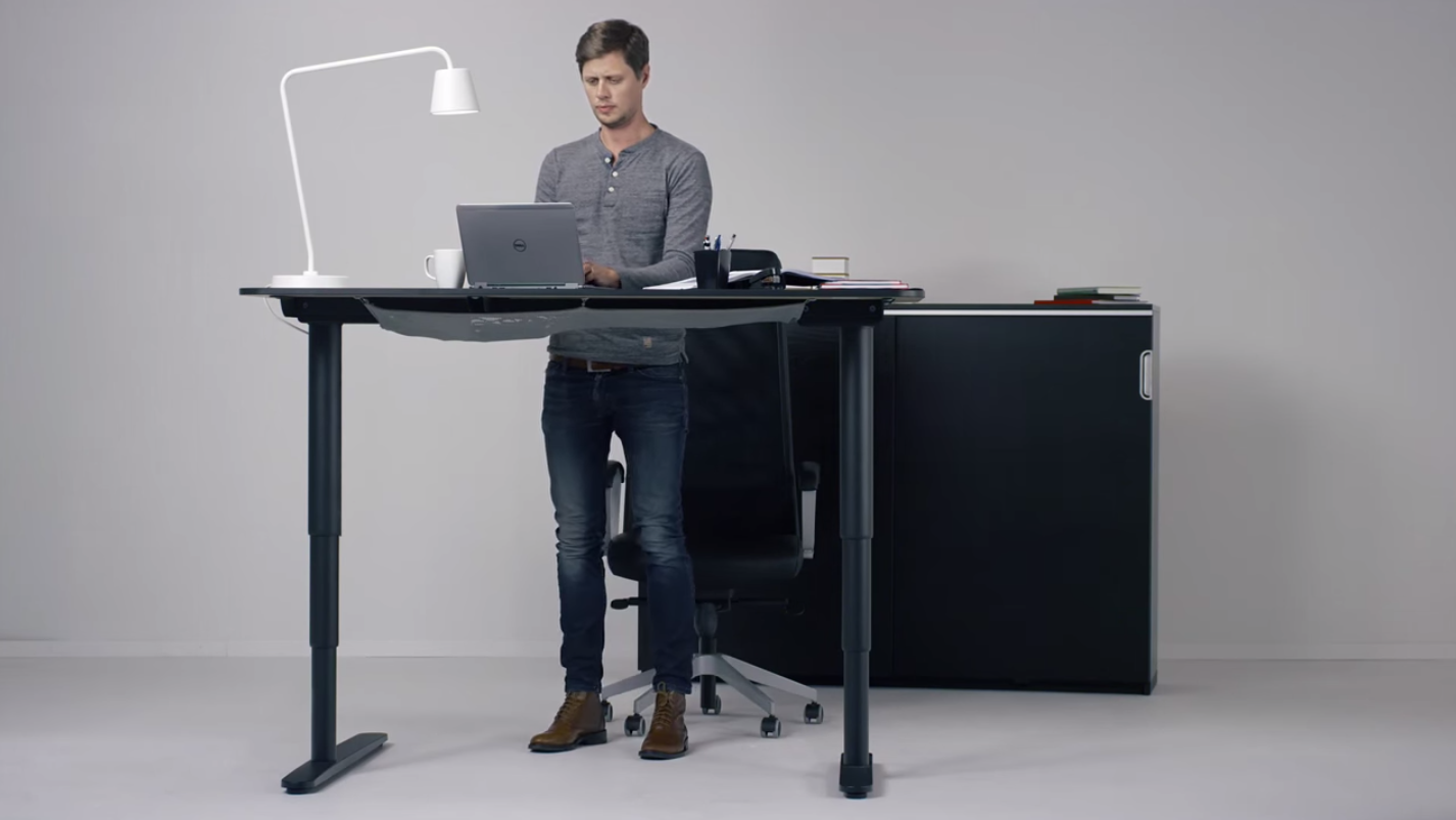 Image of: Ikea Has Created A Desk That Converts From Sitting To Standing Via A Simple Button Quartz