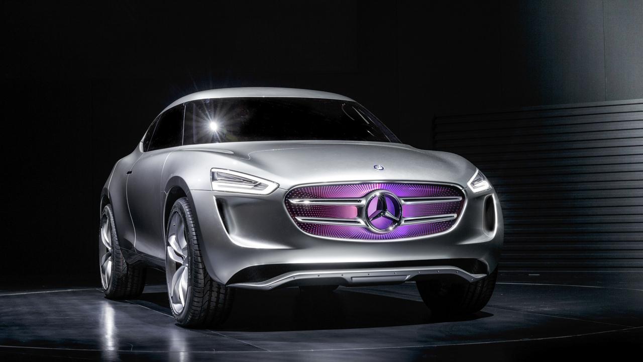 Mercedes-Benz Vision G-Code: Das Showcar wurde vom Lifestyle und den digitalen Kulturen der zeitgenössischen chinesischen Gesellschaft inspiriert. Mercedes-Benz Vision G-Code: A sporty crossover show car, inspired by the lifestyles and digital cultures of contemporary Chinese society.