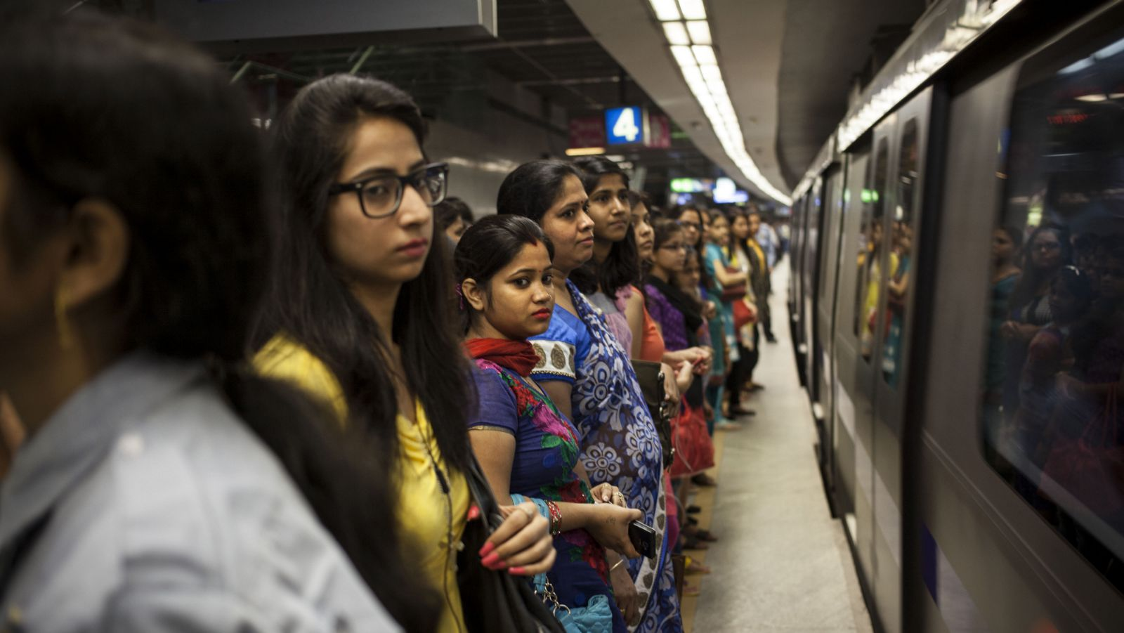 India-Delhi-Metro-Women