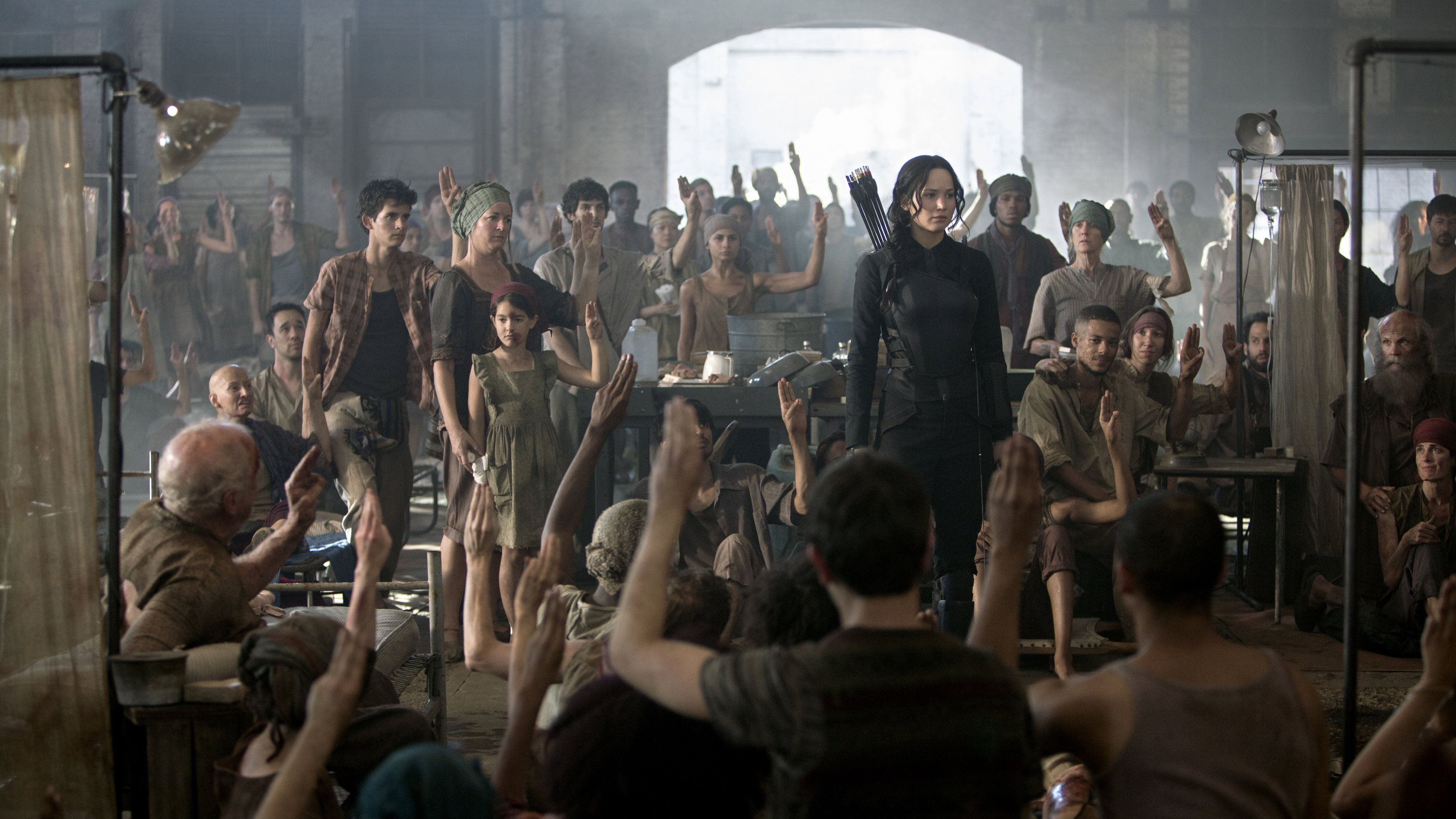 a still from The Hunger Games Mockingjay - Part 1