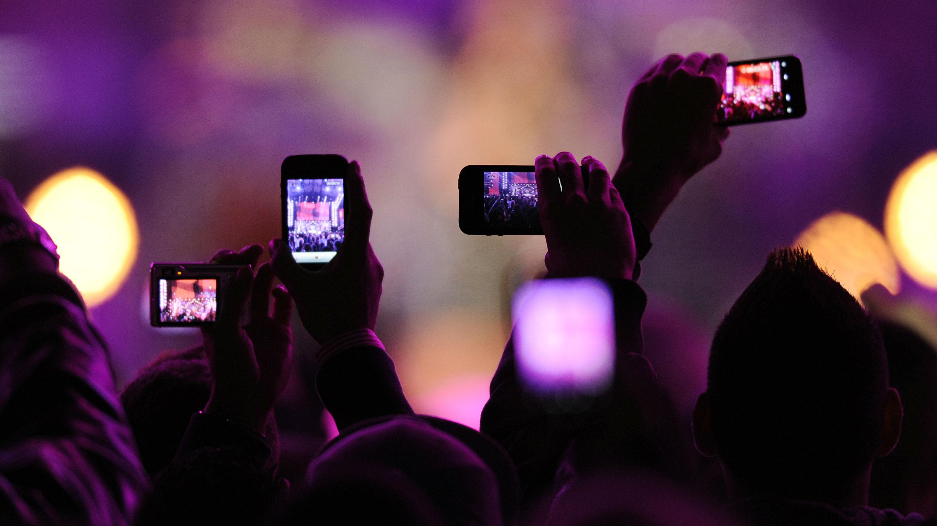 Phones at concert