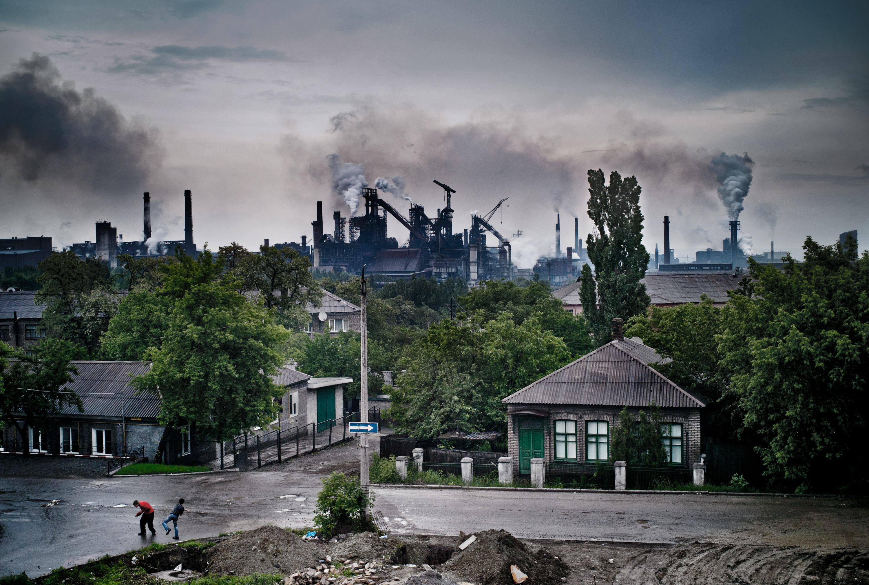The metallurgical plant in Enakievo, the birthplace of ousted Ukrainian President, Viktor Yanukovych.