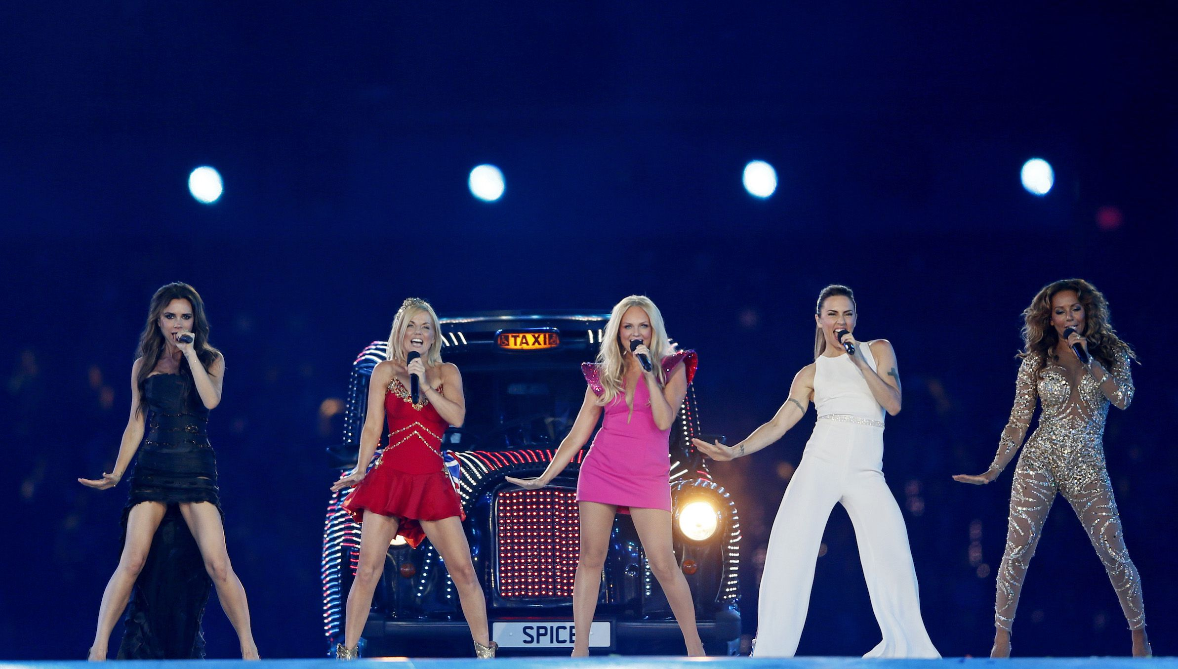 The Spice Girls perform during the closing ceremony of the London 2012 Olympic Games at the Olympic Stadium, August 12, 2012.             REUTERS/Stefan Wermuth (BRITAIN  - Tags: SPORT OLYMPICS ENTERTAINMENT)   - RTR36SPB