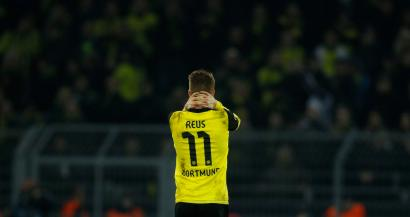 Borussia Dortmund's Marco Reus reacts after their Champions League quarter-final second leg soccer match against Real Madrid in Dortmund, April 8, 2014. REUTERS/Ina Fassbender (GERMANY - Tags: SPORT SOCCER) - RTR3KGT4