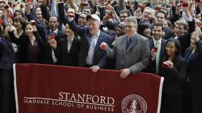 Stanford business students