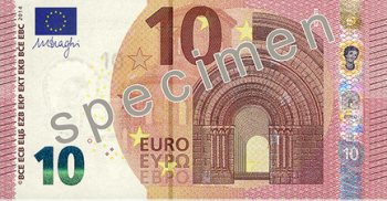 The new 10 euro note.