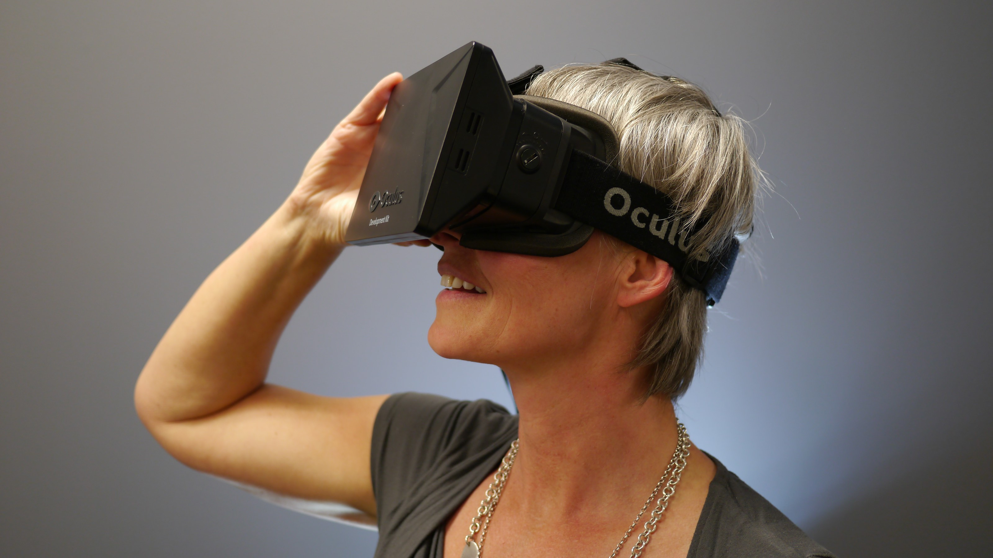 Woman watching VR movie