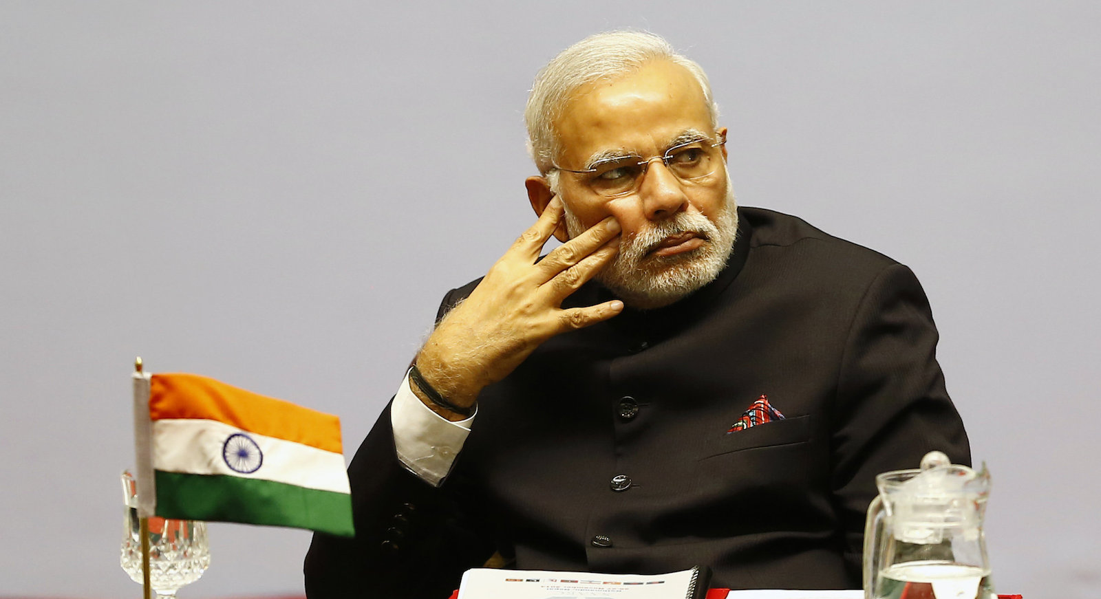 Indian Prime Minister Narendra Modi attends the 18th summit of the South Asian Association for Regional Cooperation (SAARC) in Katmandu, Nepal, Wednesday, Nov. 26, 2014. The South Asian Association for Regional Cooperation summit, the first since 2011, is meant as a forum to discuss regional issues, but is usually dominated by the rivalry between Pakistan and India. (AP Photo/Narendra Shrestha, Pool)