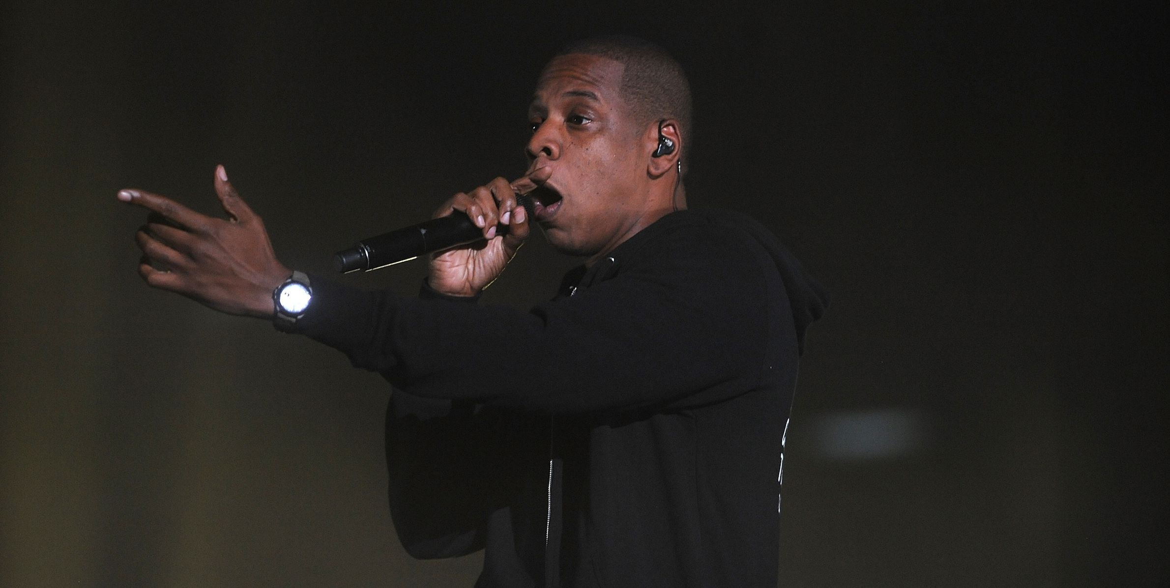 Jay-Z performs at the 3rd Global Citizen Festival at  Central Park on Saturday, Sept. 27, 2014 in New York. (Photo by Brad Barket/Invision/AP)