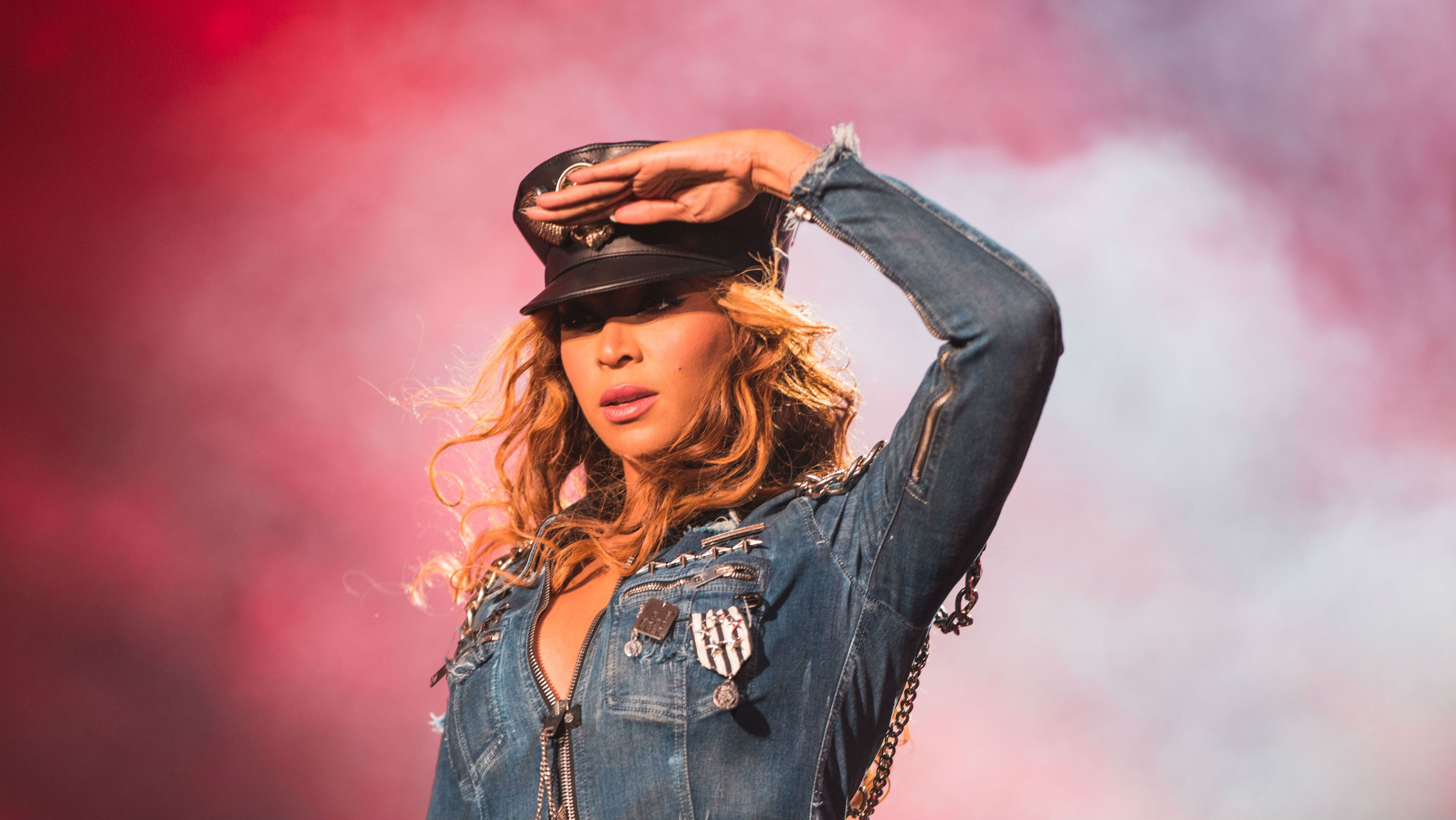 IMAGE DISTRIBUTED FOR PARKWOOD ENTERTAINMENT - Beyonce performs during the On The Run tour at Investors Group Field on Sunday, July 27, 2014 in Winnipeg, Manitoba, Canada . (Photo by Robin Harper/Invision for Parkwood Entertainment/AP Images)