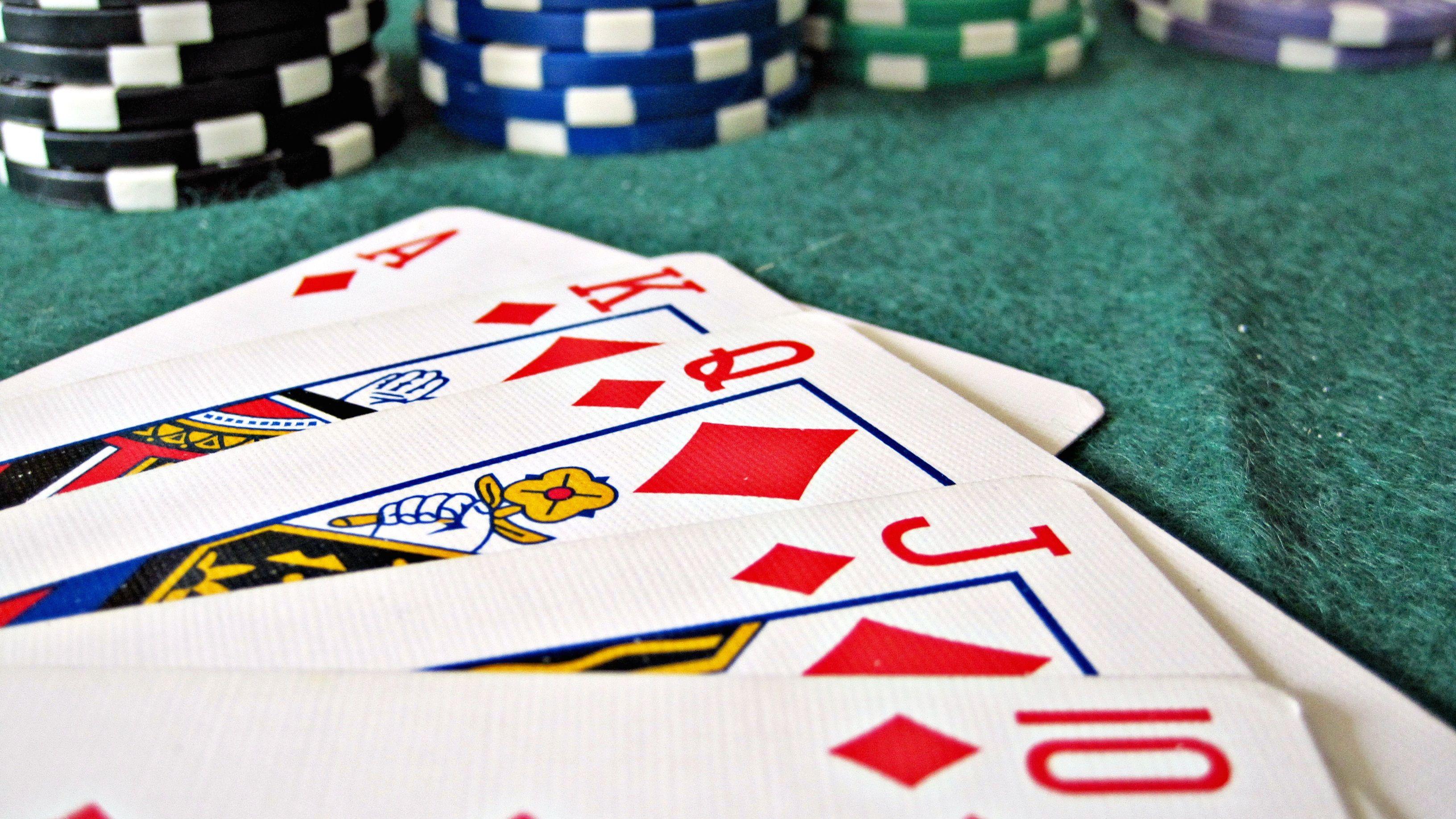 straight flush in poker hand.