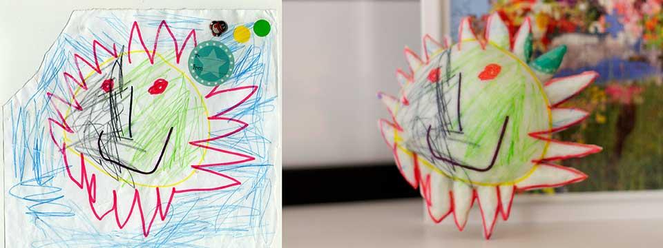 3d printed kids drawings