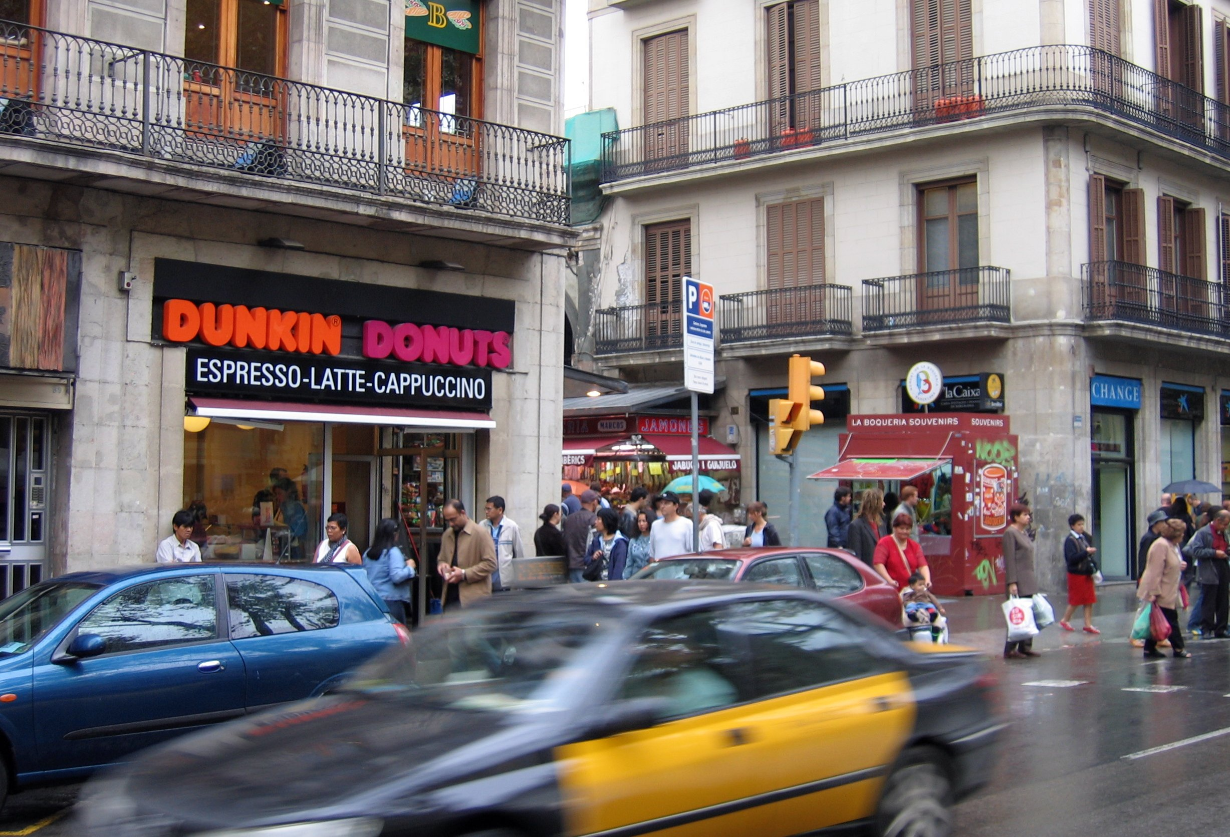 A Dunkin' Donuts outlet in Barcelona.