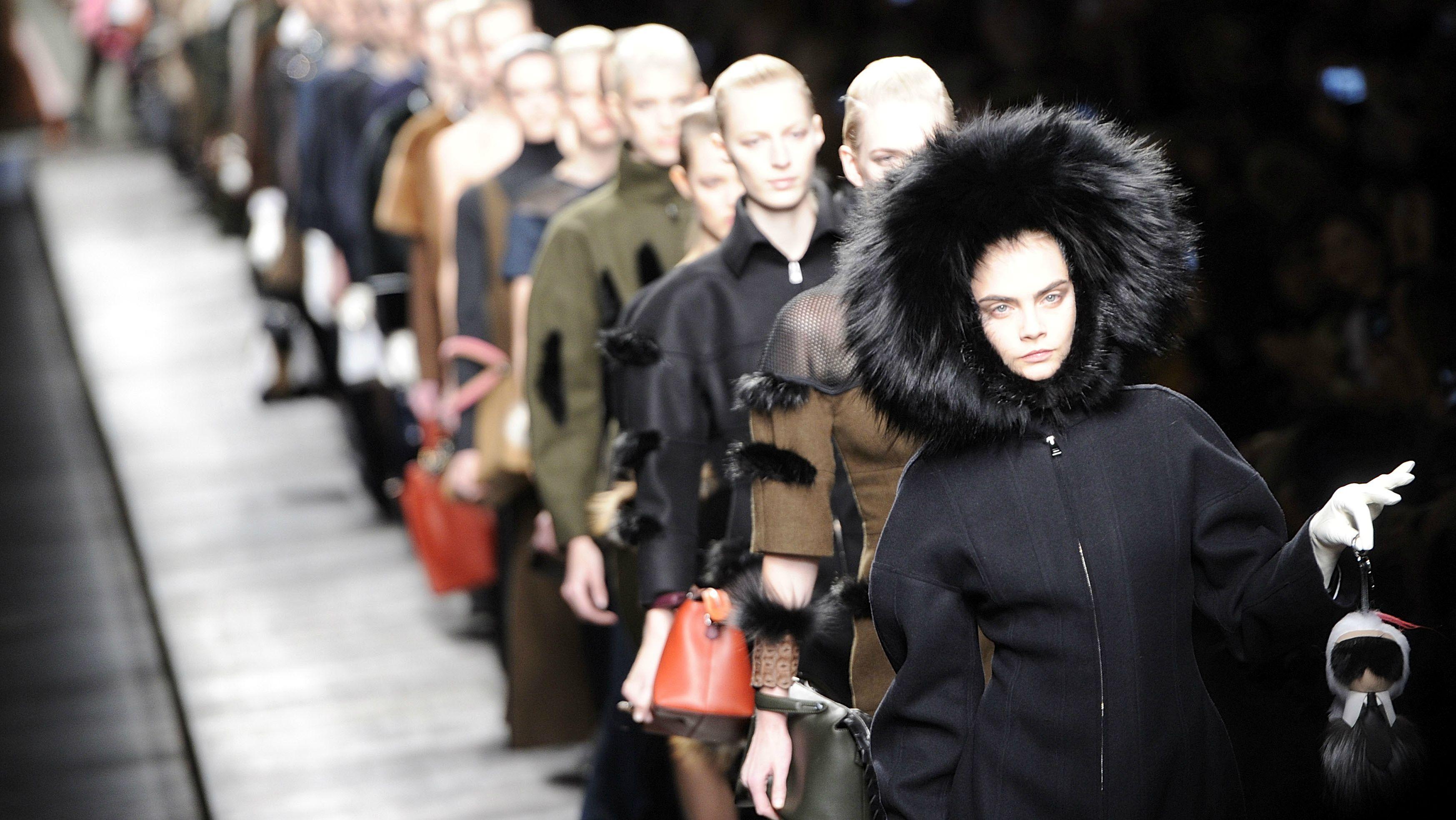 fendi, fur, fashion week, fall winter 2014