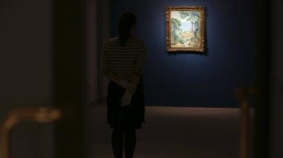 gazing at picasso painting