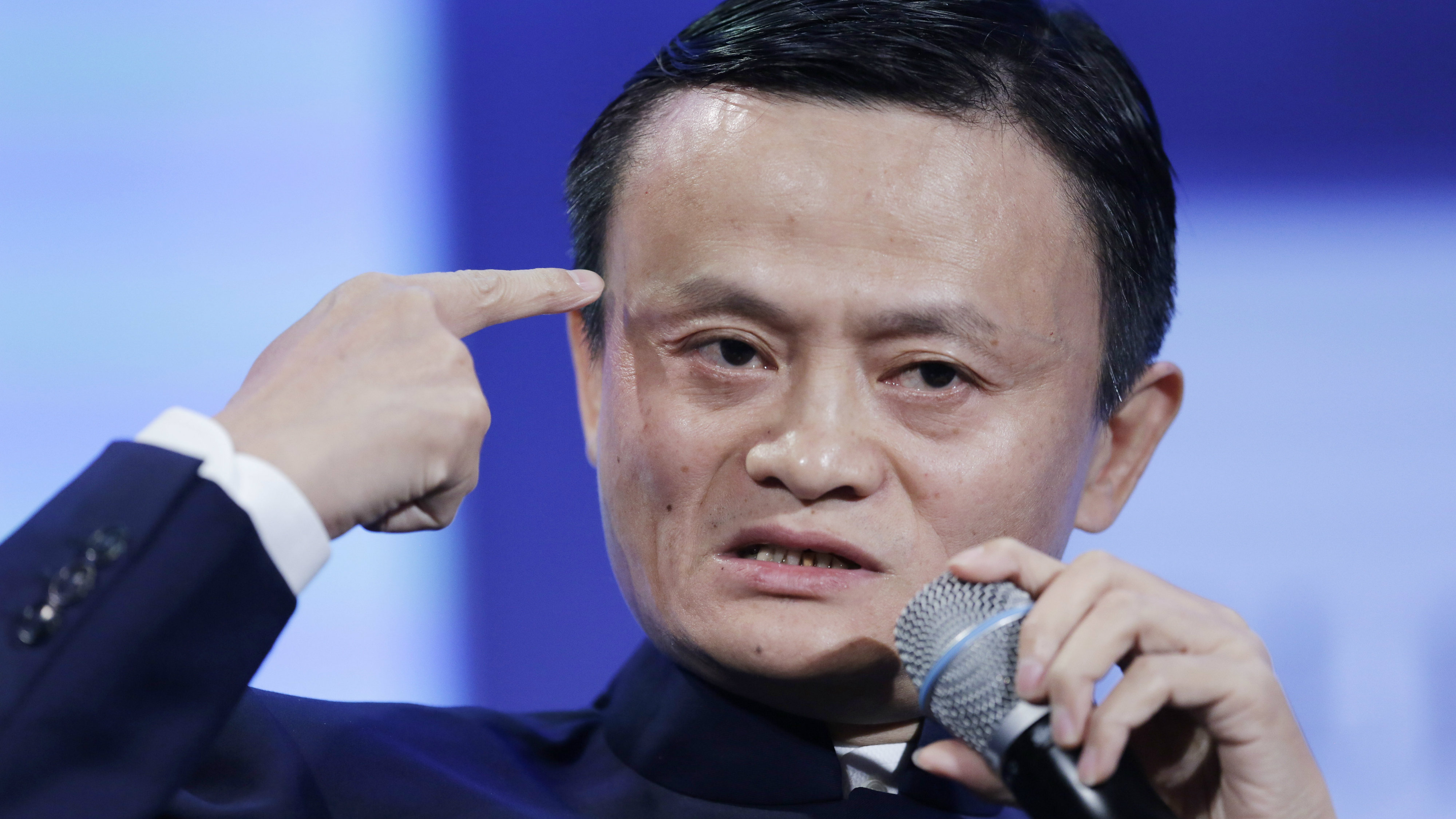 Jack Ma Founder Of Alibaba Speaks At The Clinton Global Initiative In A Session