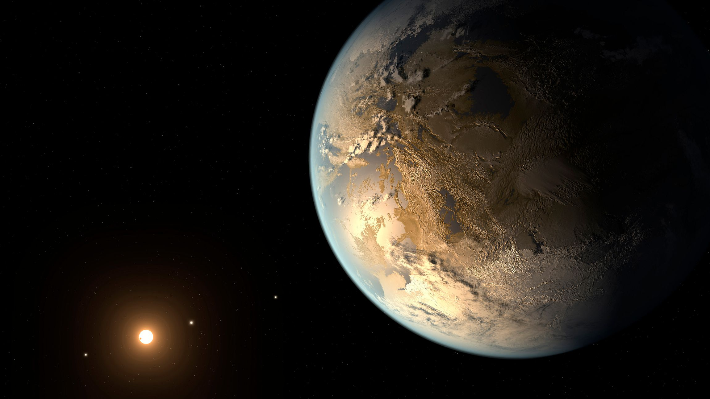 Kepler-186f, the first validated Earth-size planet to orbit a distant star in the habitable zone?a range of distance from a star where liquid water might pool on the planet's surface, is seen in a NASA artist's concept released April 17, 2014. The discovery, announced on Thursday, is the closest scientists have come so far to finding a true Earth twin. The star, known as Kepler-186 and located about 500 light years away in the constellation Cygnus, is smaller and redder than the sun.