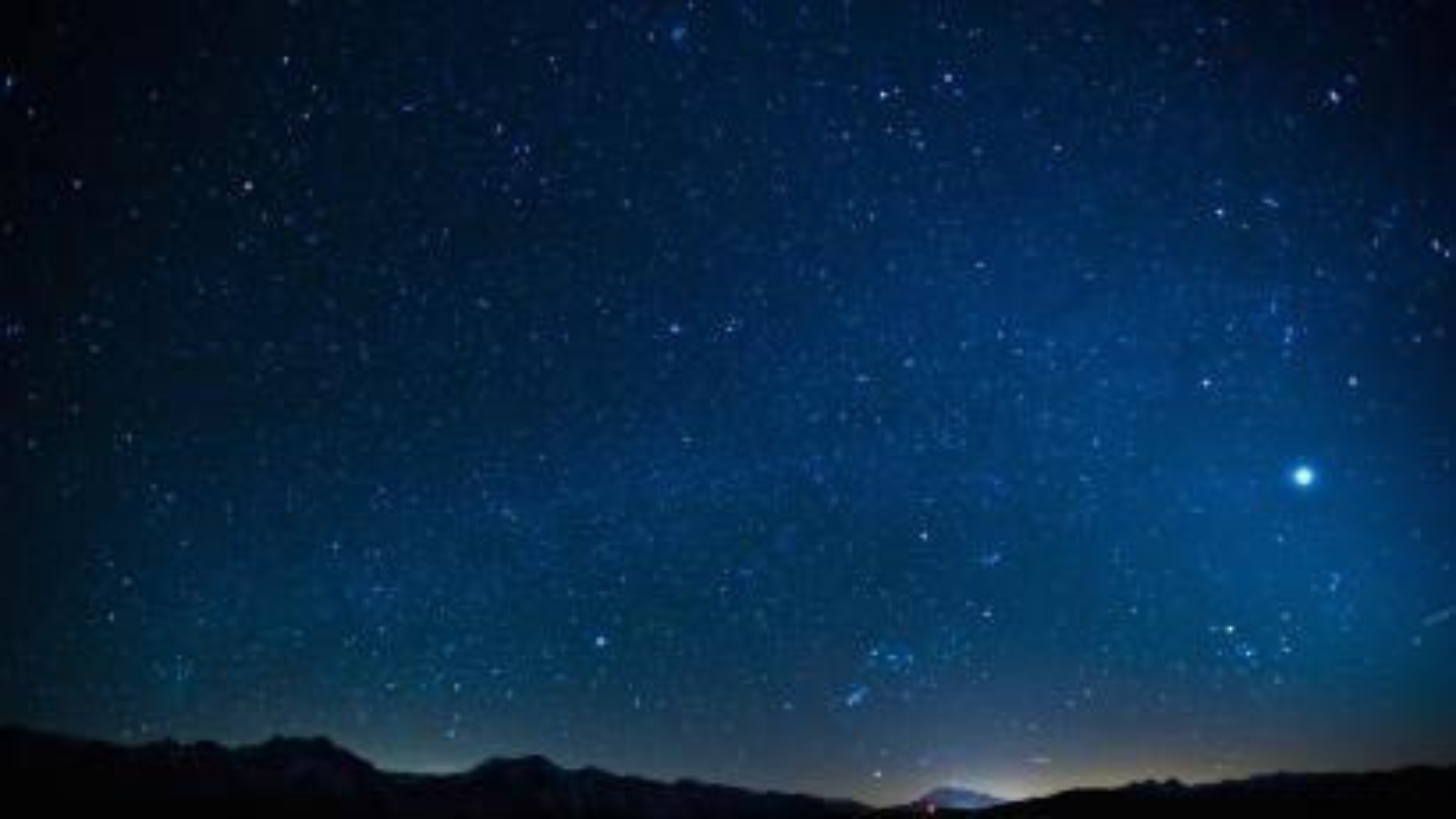 night stars over mammoth.