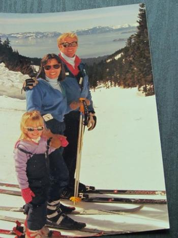 picture as kid skiing